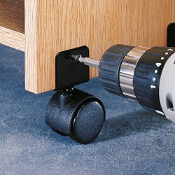 1 Pair Of Wrap-On Twin Wheel Casters