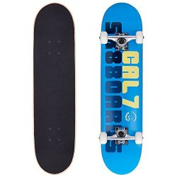 Cal 7 Mammoth 7.5 Complete Skateboard, 52×31 99A PU Wheels
