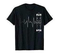 Skateboarding Heartbeat Shirt – Skateboard T-shirt Gift