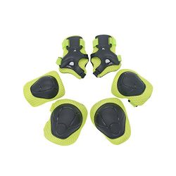 Giho Kid's Protective Knee Pads Wrist Roller Elbow Blading Blades Pad Guards 6pcs Set for  ...