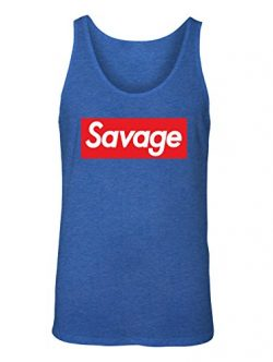 Manateez Men's Savage Skateboarding Tank Top XXL Royal