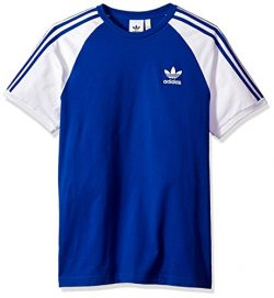 Adidas Men's Originals 3 Stripes Tee, Collegiate Royal, M