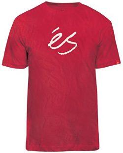eS Men Mid Script Tech Tee Red Shirts Size X-Large