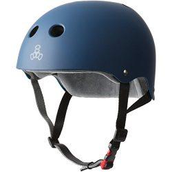 Triple 8 THE Certified Sweatsaver Helmet for Skateboarding, BMX, Roller Skating and Action Sport ...