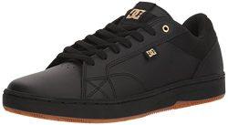 DC Men's Astor Skate Shoe, Black/Gold, 12 D D US
