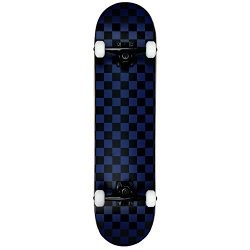 Krown KRRC-57 Rookie Checker Skateboard, Black/Blue, 7.75″