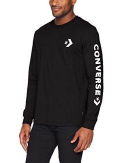 Converse Men's Star Chevron Wordmark Long Sleeve T-Shirt, Black, L
