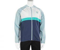 adidas Originals Men's Skateboarding Blackbird Wind Jacket, Ash Grey/Shock Green, S