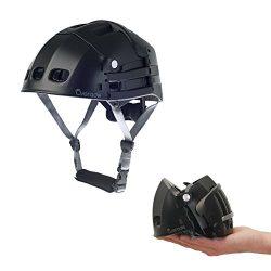 Foldable helmet Plixi Fit – for bike, kick scooter, skateboard, overboard, e-bike –  ...