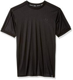 adidas Originals Men's Skateboarding Clima Club Jersey, Black/Black, XL