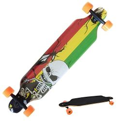 Lantusi Professional Speed Drop Down Complete Longboard Wooden Stained Long Skateboard for Kids  ...