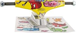 Krux Trucks Standard Cat Party Yellow / Silver Skateboard Trucks – 5.35″ Hanger 8 ...