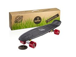 Ridge Recycled Cruiser Skateboard, Recycled Plastic 27″ Big Brother Cruiser (Red)
