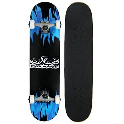 Krown KRRC-27  Rookie Complete Skateboard,Blue Flame