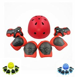 Lucky-M Kids Outdoor Sports Protective Gear,Boys and Girls Safety Sports Equipment Pads Set [Hel ...