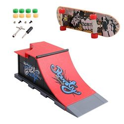 Skate Park Kit Ramp Parts – Mini Finger Skateboard Park for Tech Deck Fingerboard Ultimate ...