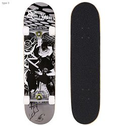Oanon 31 Inch Complete Skateboards 9 Layer Maple Wood Deck Skate Board