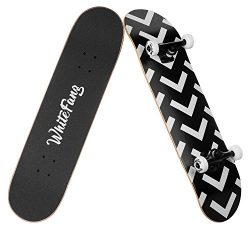 "WhiteFang Canadian Maple Skateboard 31.75″ 7.88"" Complete double kick concave Standard Ska ..."