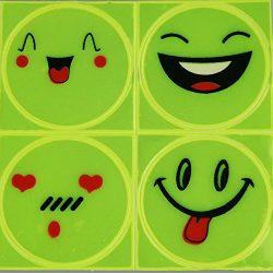 Smiley Emoji Sticker for use at Laptop Motorcycle Bicycle Luggage Bag Skateboard etc.. ( 5 * 4 t ...
