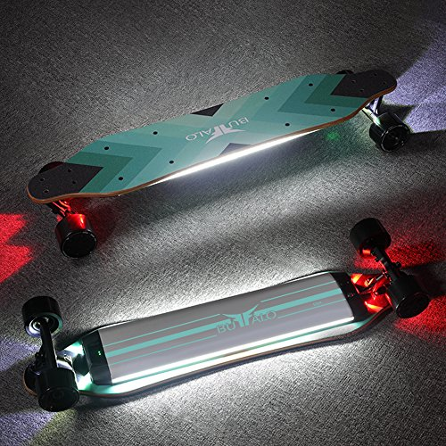 Electric Skateboard Bluetooth Controller Longboard Powerful Dual Hub Motors 25MPH Top Speed 15