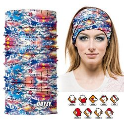 OUYZY Neck Gaiter, Headwear,Face Sun Mask, Magic Scarf, Bandana, Balaclava, Headband for women f ...