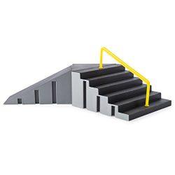 Tech Deck 20078799 – Build-A-Park – Kicker To 6 Stair Rail (Grey/Black) Customize Yo ...