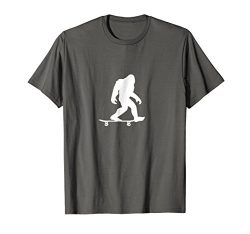 Mens Bigfoot Skateboarding Shirt Funny Cool Sasquatch Skater Gift Small Asphalt