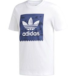 adidas Originals Men's Skateboarding Blackbird Haven Tee, White/Noble Indigo, M