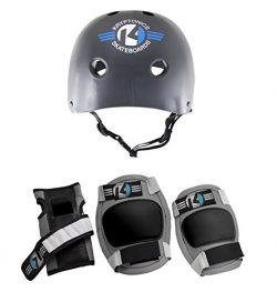 Kryptonics Starter 4-in-1 Pad Set with Helmet, Small/Medium