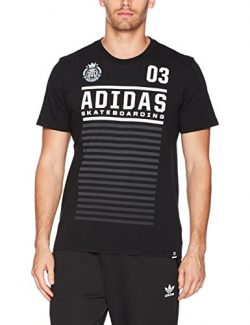 adidas Originals Men's Tops Skateboarding Graphic Tee, Black/White/Fuchsia, Medium