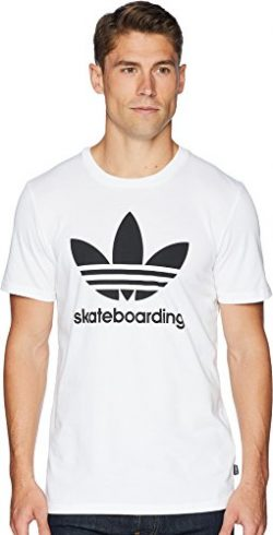 adidas Skateboarding Men's Clima 3.0 Tee White/Black Large