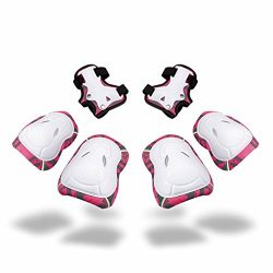Kids Protective Gear SKL Knee Pads for Kids Knee and Elbow Pads with Wrist Guards 3 In 1 for Ska ...