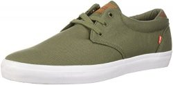 Globe Men's Willow Skate Shoe, Burnt Olive Canvas, 11 M US