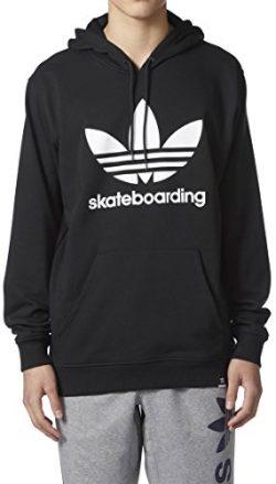 adidas Skateboarding Men's Clima 3.0 Hoodie Black/White 2 Medium