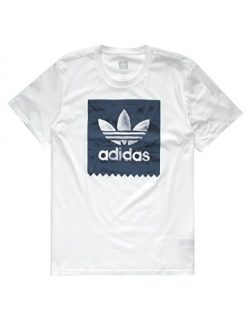 adidas Originals Men's Skateboarding Blackbird Haven Tee, White/Noble Indigo, XL