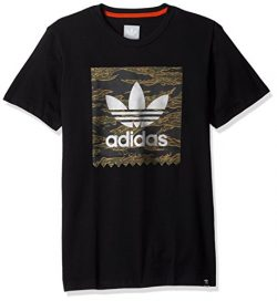 adidas Originals Men's Skateboarding Camo Blackbird Tee, Black/Camo Print/Collegiate Orang ...