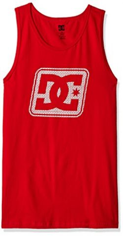 DC Men's Endleshort Sleeve Tank, Tango Red, M