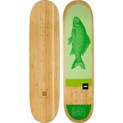 Bamboo Skateboards Green Fish Graphic Skateboard Deck, 7.75″ x 31.5″