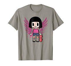 Cute Anime Girl Skateboarding Japanese Kawaii T Shirt