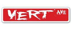 VERT Street Sign Decal Sticker skate skateboarding skates ramp gift skater skateboards gift