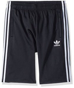 adidas Originals Big Boys' Originals 3 Stripes Shorts, Black/White, L