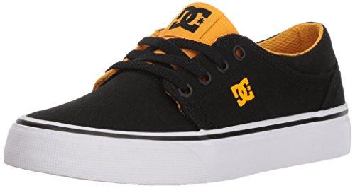 DC Boys' Trase TX Skate Shoe, Black/Yellow, 6 M M US Big Kid