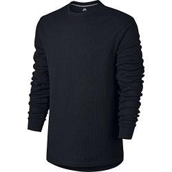 Nike SB Dry Top Men's Long Sleeve Thermal Top (Large, Black/Black)