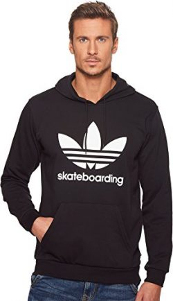 adidas Skateboarding Men's Clima 3.0 Hoodie Black/White 3 X-Small