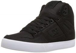 DC Men's Pure High-Top WC TX SE Skate Shoe, Black/Black/White, 11 D D US