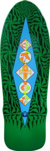 Vision Gator Ramp Reissue Skateboard Deck, Green, 10 x 31-Inch