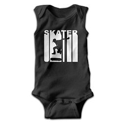 Retro Skater Skateboarding Baby Bodysuit Cute Baby Onesies Rompers Bodysuit For Boys and Girls