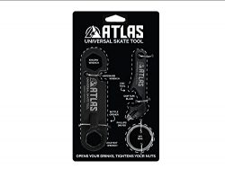 Atlas Universal Skate Tool with Screwdriver Black One Size, Includes: Keychain, Kingpin Wrench,  ...