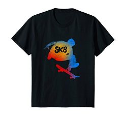 Kids Skateboarding Evolution T shirt Cool Sk8 Skater Tee Gifts 8 Black