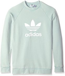 Adidas Men's Originals Trefoil Warm-up Crew, Ash Green, L